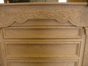 shop dog report-chisel carved dresser