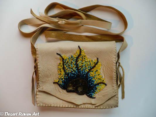 The latest project, beadwork purse