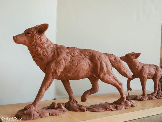Artsy Fartsy Tuesday Coyote sculpture