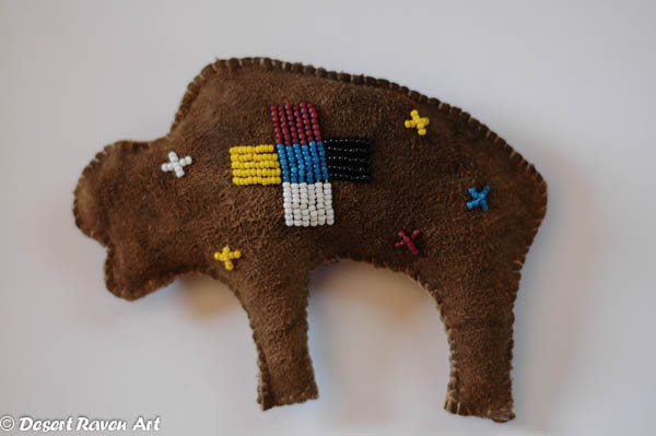Artsy Fartsy beaded buffalo
