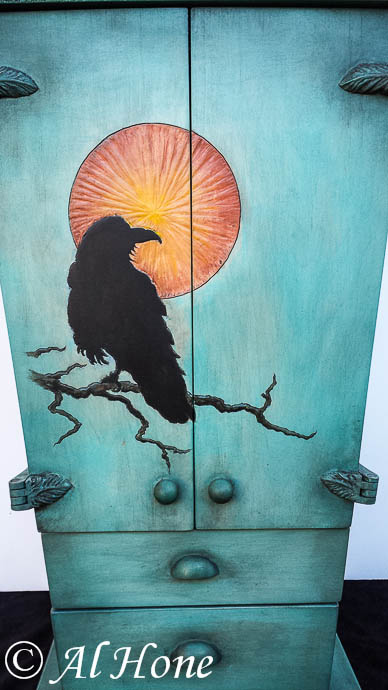 Artsy fartsy tuesday, raven wine cabinet