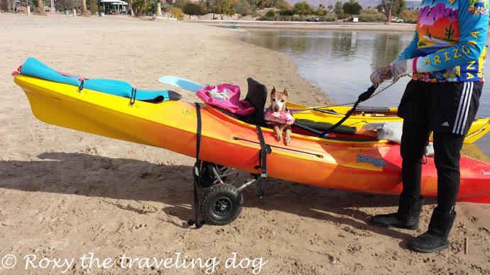 London bridge and a beach, lake havasu.kayaking