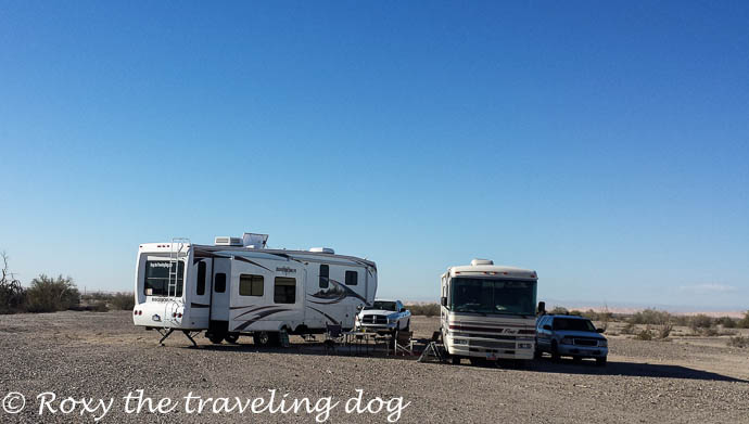 Boondocking near Yuma on the Ogilby road