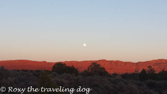 Grand staircase Escalante Utah , full moon