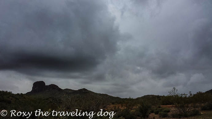 Too rainy for fun around here, storm clouds in the desert