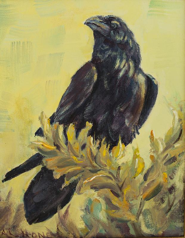 Raven painting Al Hone