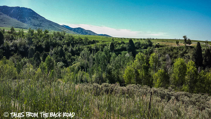 A beautiful green valley in McCammon, Idaho