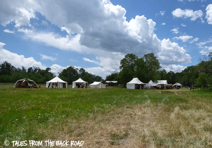 Camp Henry mountain man rendezvous camp shot