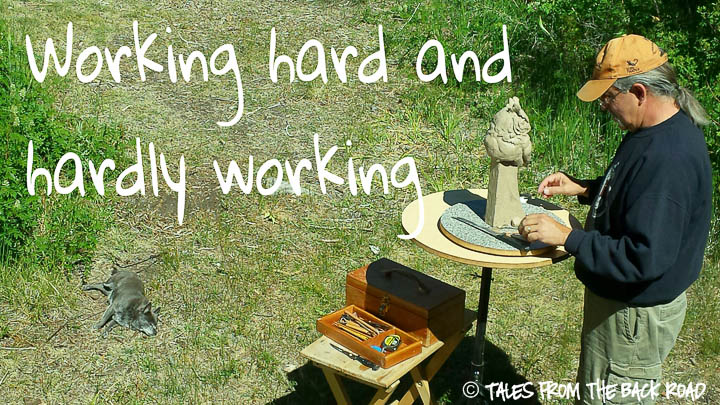 Working hard, and hardly working