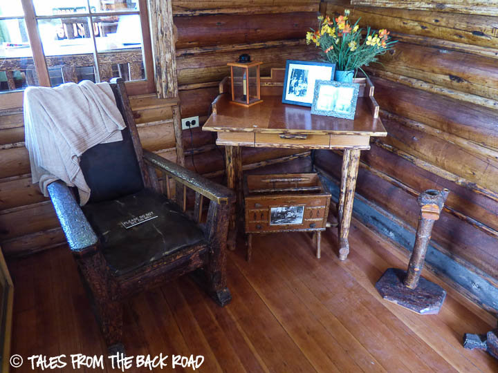 Johnny Sack cabin sitting area
