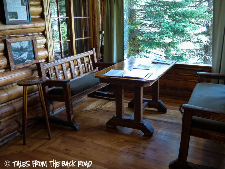 Johnny Sack cabin kitchen table
