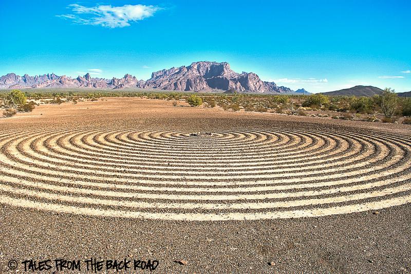 Circles in the desert