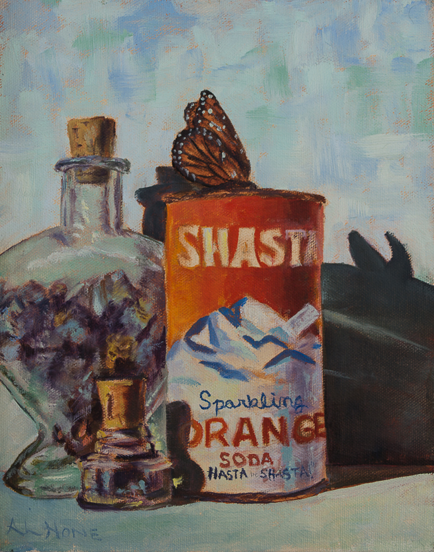 Vintage Shasta can painting