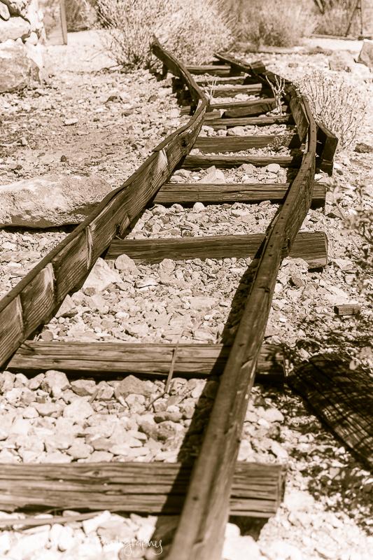 Old mine car tracks