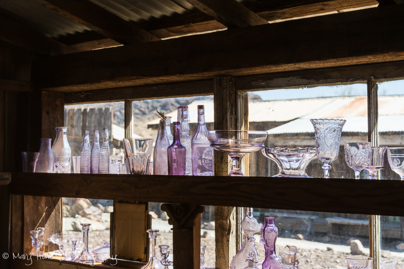 Purple glass Castle Dome mine museum