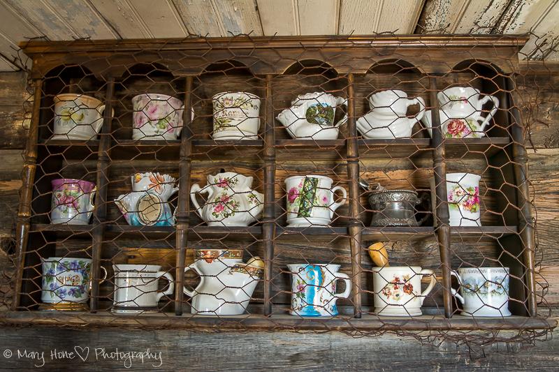 Old shaving mugs