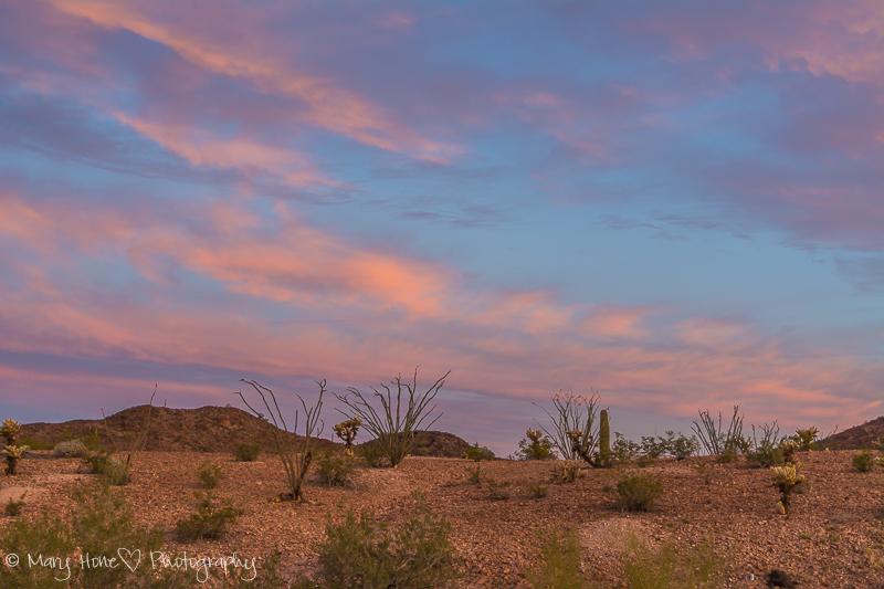 Nothing like a desert sky at sunrise