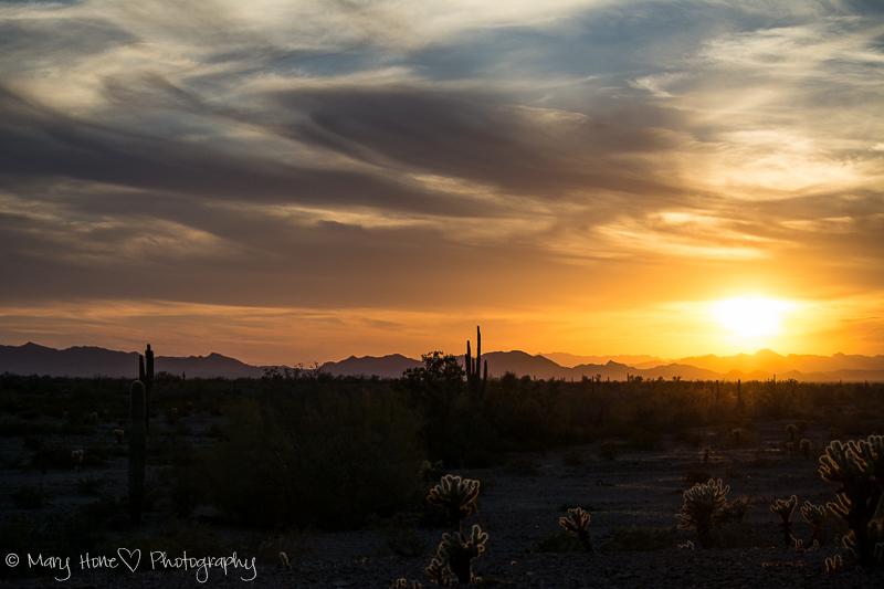Nothing like a desert sky at sunset