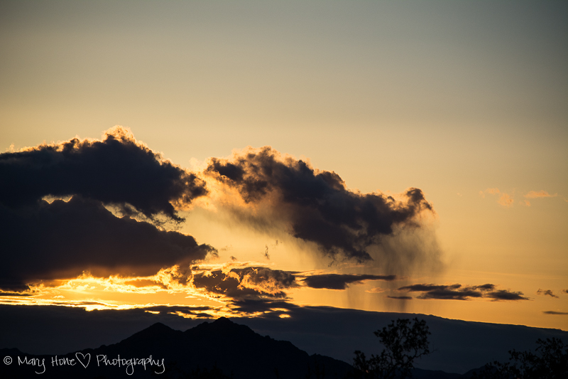 Sunset rain clouds, The golden hour for photography