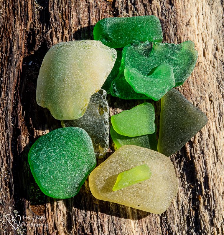 Sea Glass. Transition-Trash to Treasure.
