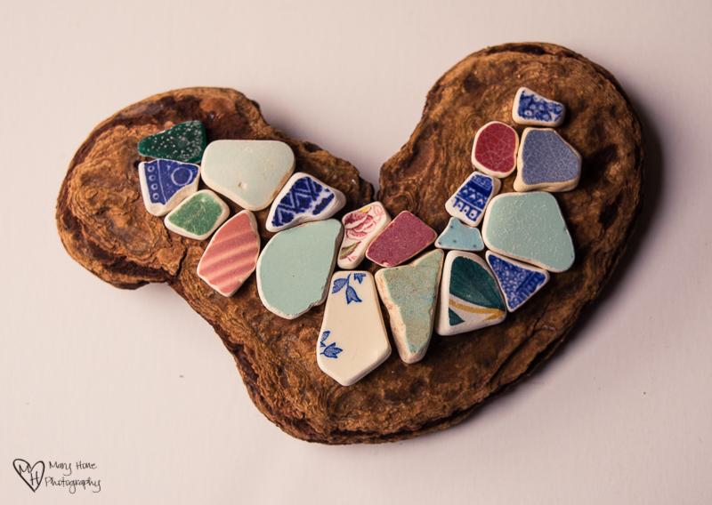 Sea ceramic heart