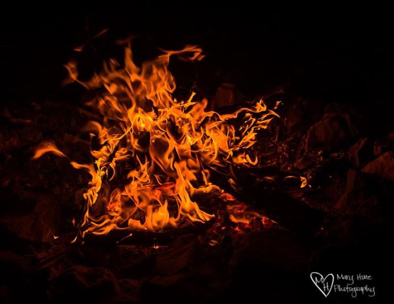 Vibrant campfire photo