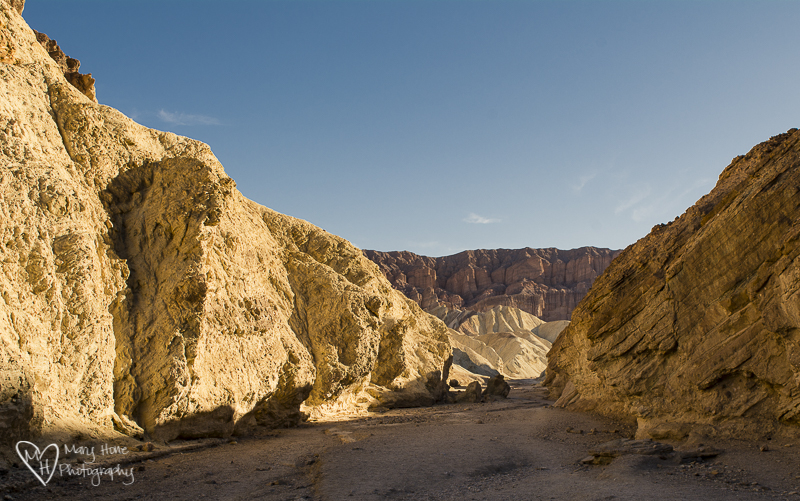 Death Valley gold canyon