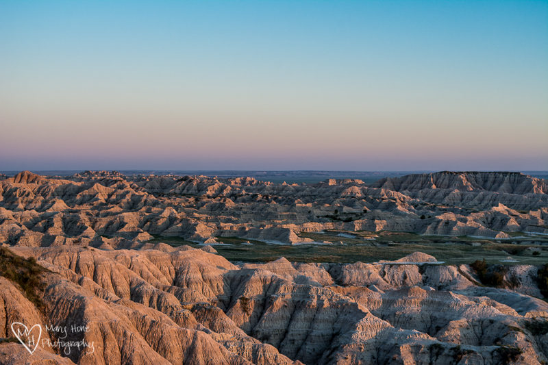 The end of our South Dakota adventure, badlands