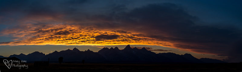 Panorama over the tetons