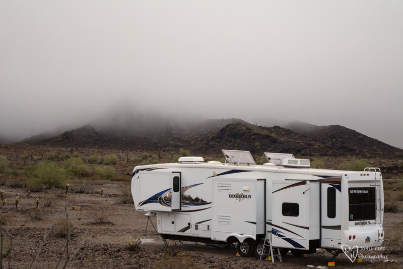 Rv in the rain with low clouds, Rain Changes Everything