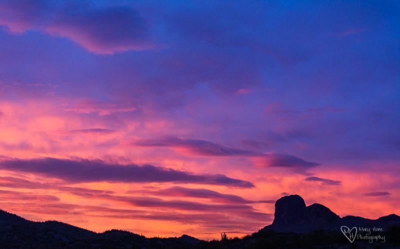 desert sunrise over vulture peak
