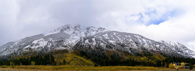 snowy teton panorama
