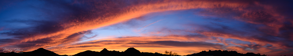 desert sunrise panorama