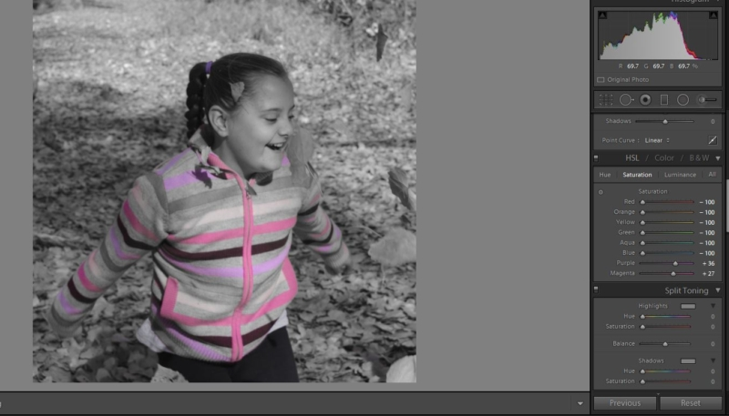 From Clicking to Creating, creating selective color