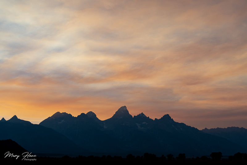 sunset tetons
