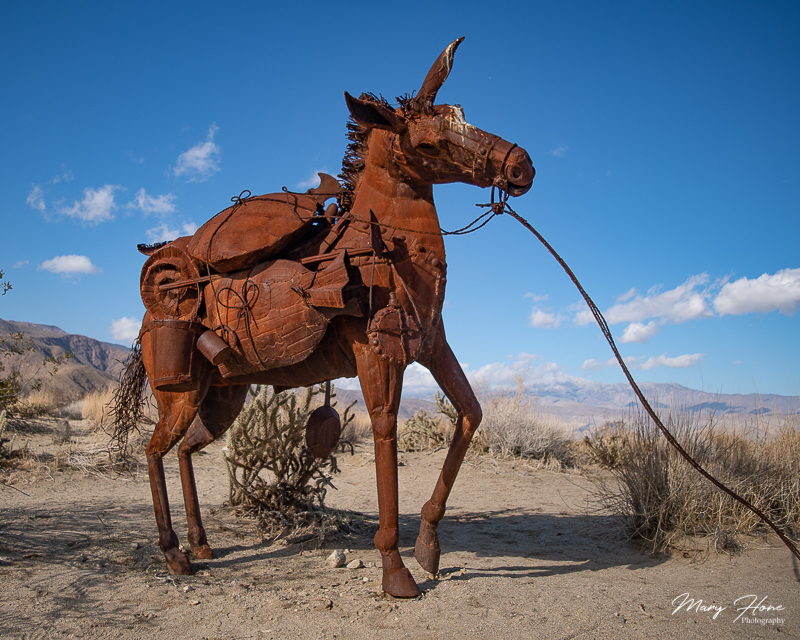 Borrego Springs Sculptures in the Desert, burro