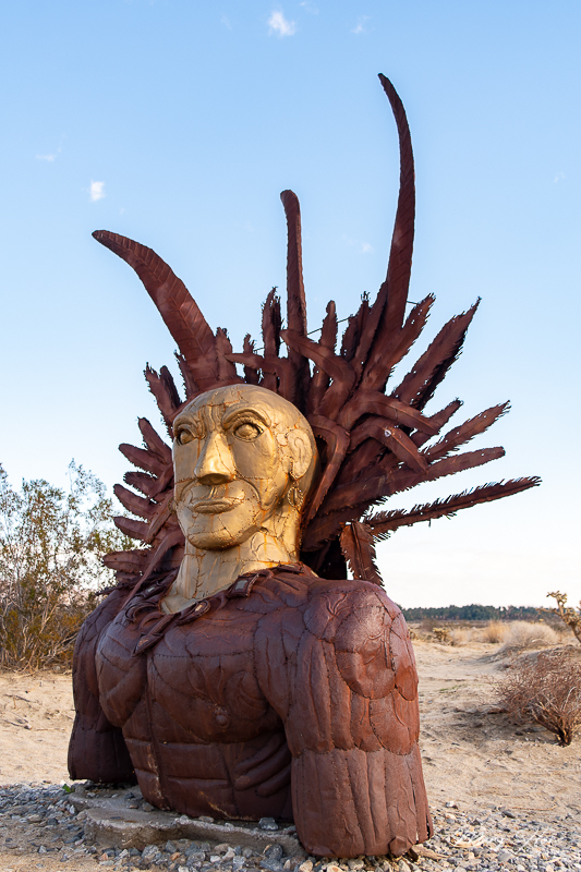 Borrego Springs Sculptures in the Desert, indian head