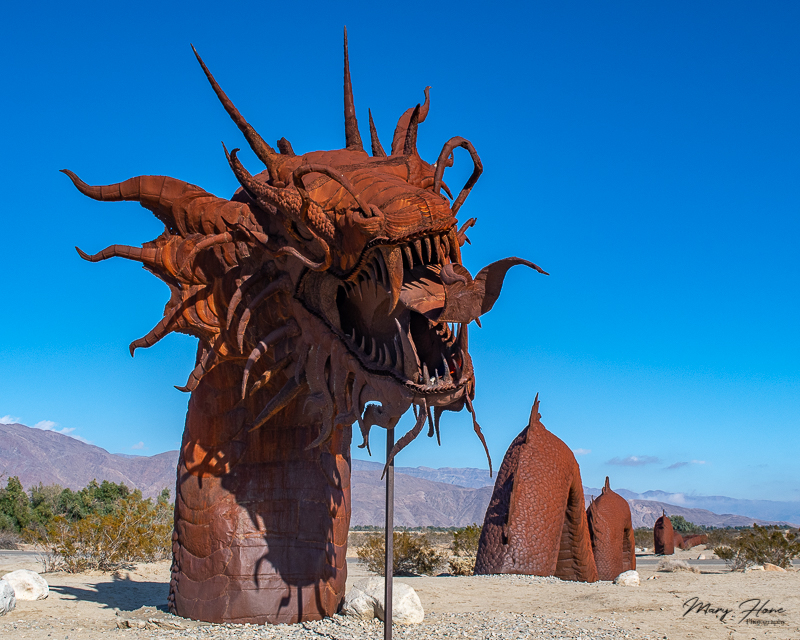 Borrego Springs Sculptures in the Desert, giant serpent